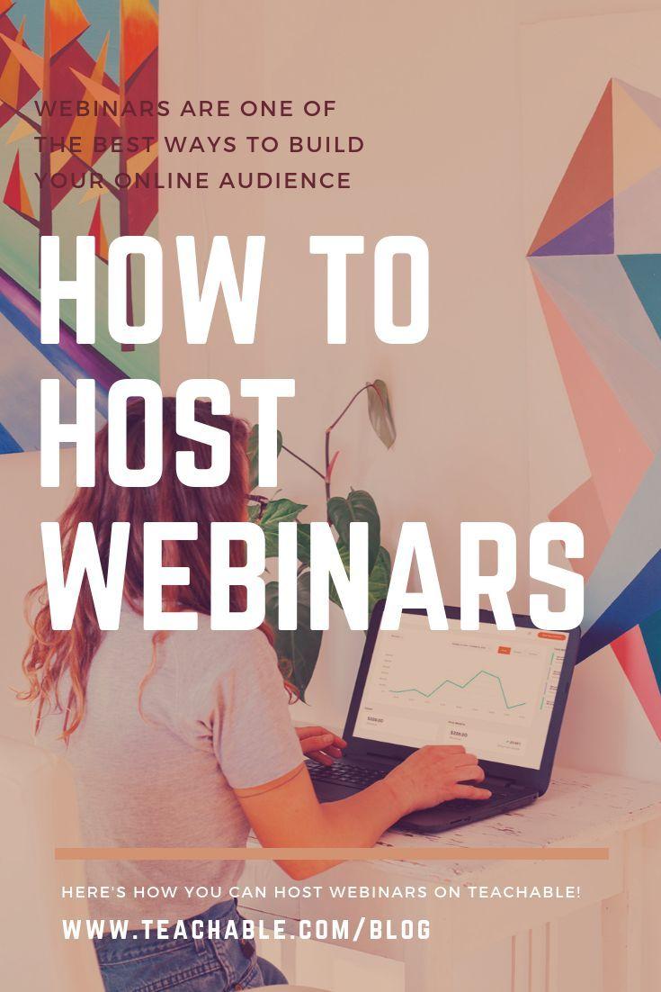 How To Host Webinars With Teachable Webinar Webinar Marketing Teachable