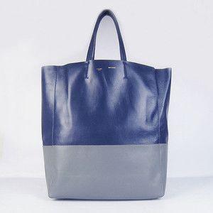 Celine 1868 Blue-Grey Cabas Lambskin Shopper Tote [knockoff handbags_24121] : Replica handbags,wholesale knockoff handbags at Sumbags.com