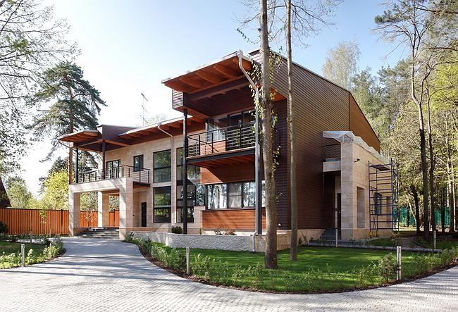 Частный дом в Черкизово (House in Cherkizovo) в России от Архитектурного бюро Романа Леонидова.