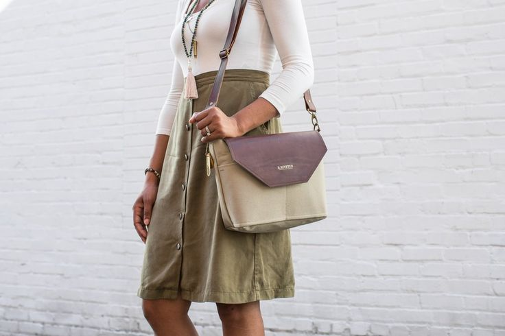 Handmade leather + canvas handbags from R. Riveter. The Signature Hobby is a…