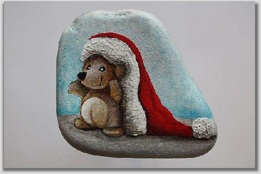 Igelchen oder Bärchen (?) mit Santa Mütze