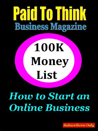 In this issue we show you how to start your online business in 5 steps and our choice business is to sell information. We also show you the best short cut to establishing your next online business income by building your subscriber list first.  http://auto-pilot-biz.com/PTT
