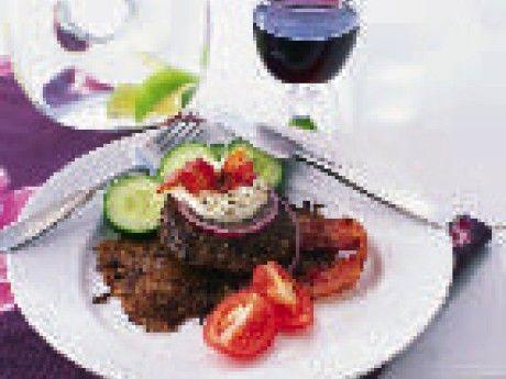Pannbiff med rösti och pepparrotscrème fraiche