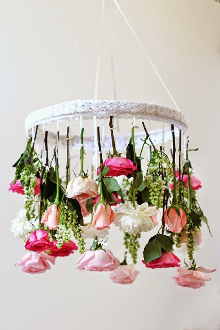 Flower chandelier.