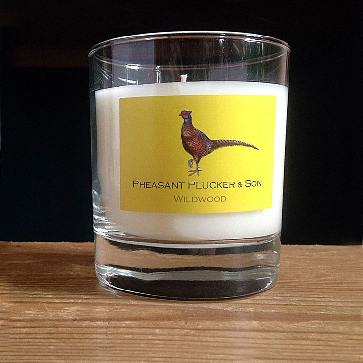 Relax and unwind at home with the Wildwood candle from Pheasant Plucker & Son