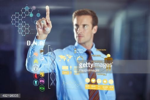 Hybrid business technology: Welcome to the future! : Stock-Foto