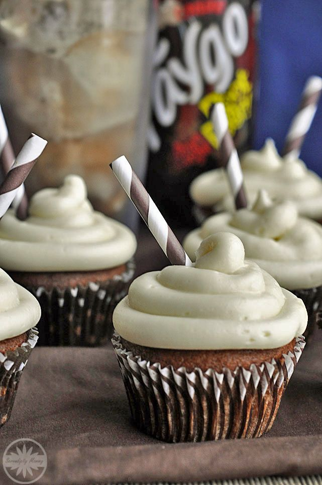 Root Beer Float Cupcakes. I had one of these from the Sweet Tooth Fairy last weekend, and it was amazing. This recipe seems pretty close.