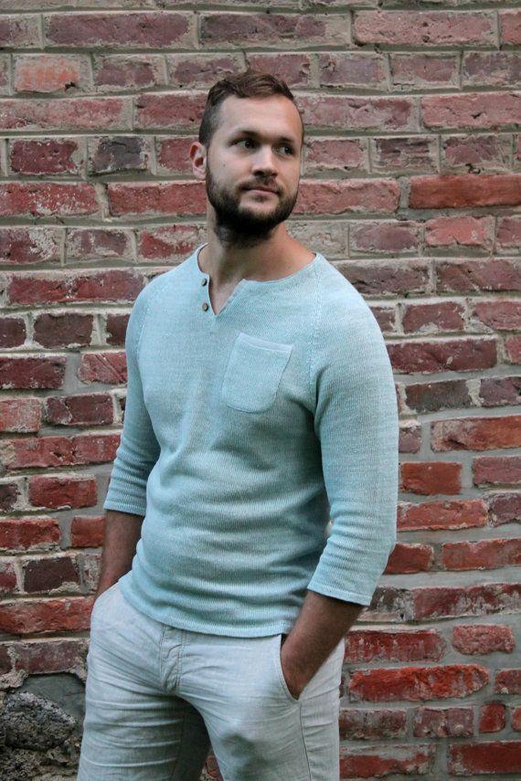 CUSTOM ORDER for Kristina / Slim Cut Men's Sweater