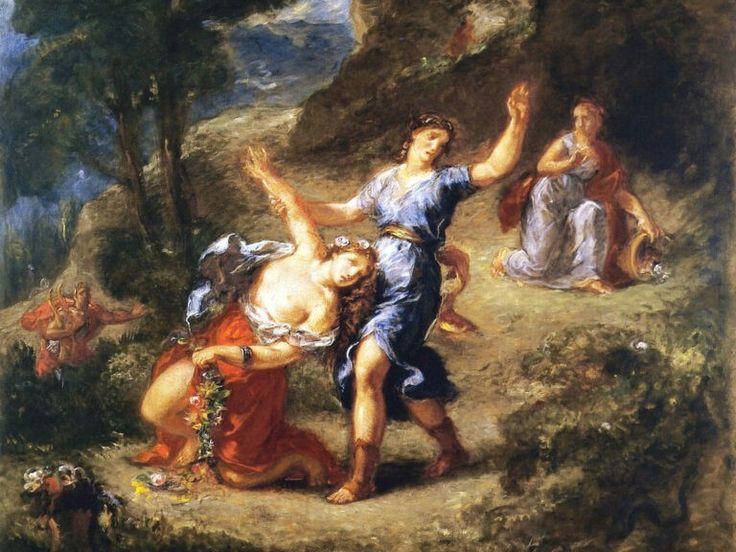 Orfeo ed Euridice – Dettaglio del quadro di Eugene Delacroix – 1862