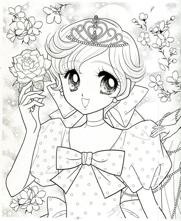 japanese princess coloring pages - photo#27