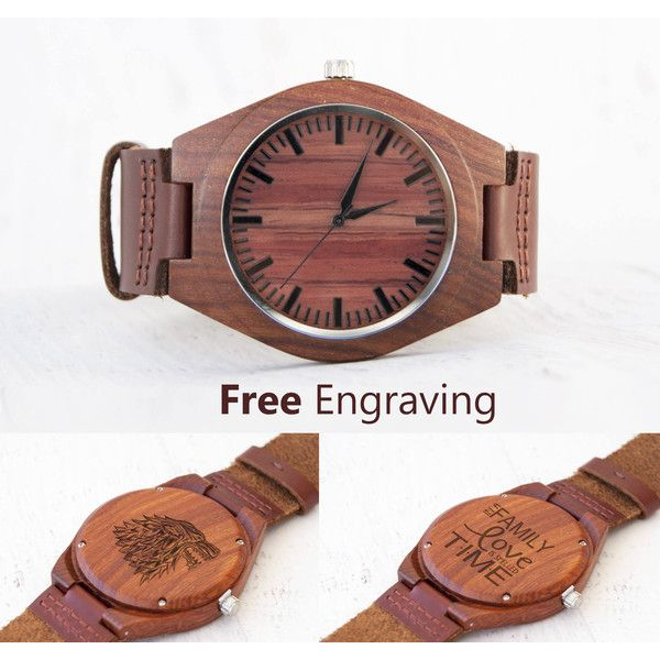 Watches for Men Watch Wooden Watch Personalized Wood Watches Men... ($50) ❤ liked on Polyvore featuring men's fashion, men's jewelry, men's watches, mens watches, mens leather watches, mens leather band watches, mens wooden watches and engraved mens watches