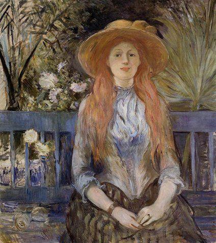 On a Bench ~~ Berthe Morisot: Bertha Morisot18411895, Artwomen Portraits, 18411895 Paintings, Art Blog, Berthe Morisot, Morisot 1889, Artists Fav, Art Impressionist, Berthe Morisot 1841 1895