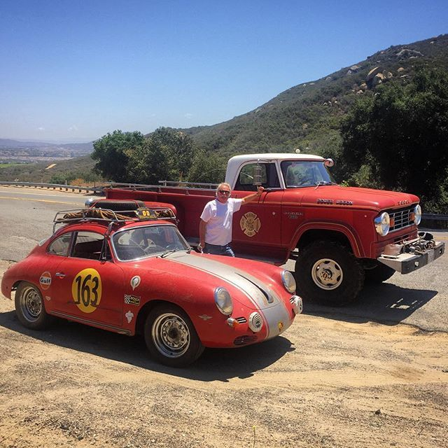 I love these serendipitous meetings with fellow gearheads... Never would have happened if I was driving a normal car. I'm glad I took the #Porsche today! #powerwagon #redcar #carchaeology