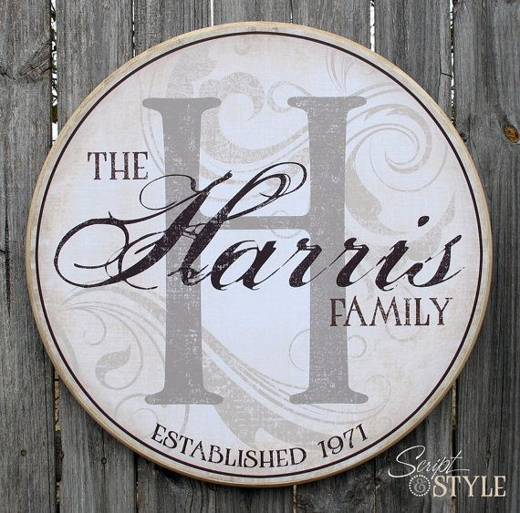 Personalized Family Name Sign Family Established by ScriptandStyle, $59.99