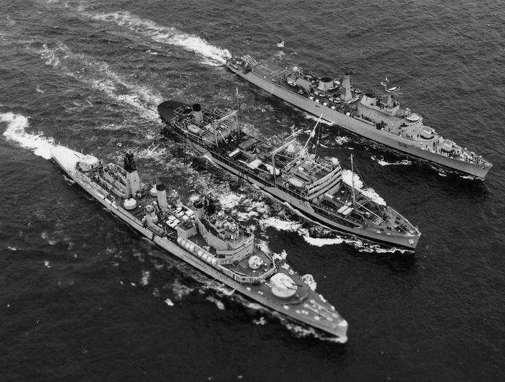 HMS Tiger, RFA Wave Chief and HMS London.