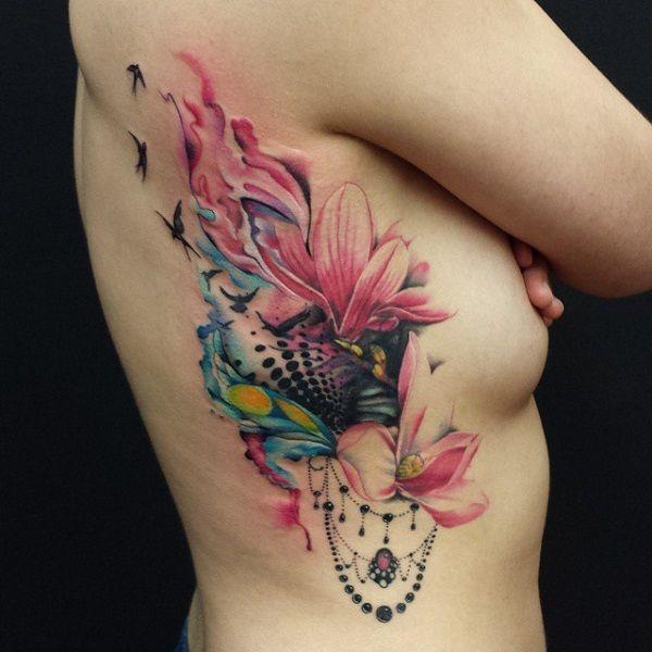 50+ Magnolia Flower Tattoos | Tatuering, Blommor och Lotus