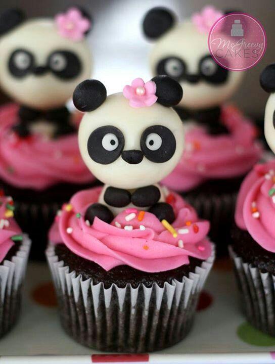 cute panda cupcakes | I ♡ CUPCAKES | Pinterest | Panda ...