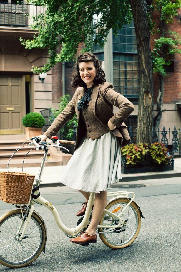 Visual vintage para usar no inverno e ainda andar de bicicleta confortavelmente <3