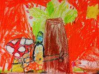 Herfst tekening met wasco (groep 1)