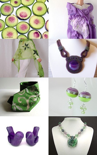 Purple and green -- my favourite colour combination