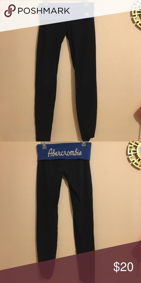 Abercrombie and Fitch leggings Blue on blue, good condition! Abercrombie & Fitch Pants Leggings