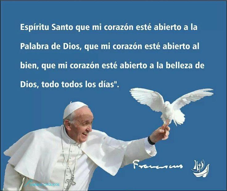 Resultado de imagen para oracion  al Espíritu Santo del papa francisco