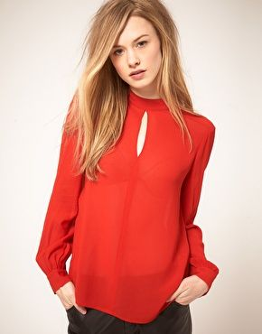Whistles Gerry 70s Top. So sexy yet subtle. (Can one call a sheer red top subtle?)