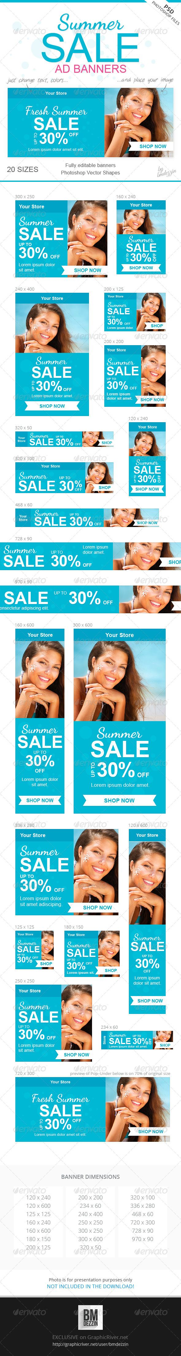Summer Sale Ad Banners