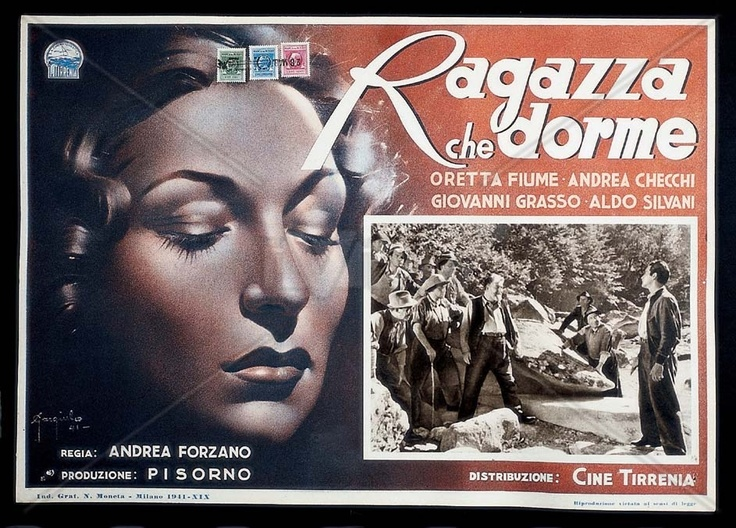 Made in 1941, RAGAZZA CHE DORME is about a farmer's daughter who falls asleep in front of a picture of the Madonna. Filmed in the Apuane Alps in Massa Carrara.