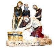 Jesus washing the feet of the apostles  Folk art by: Roman Śledź