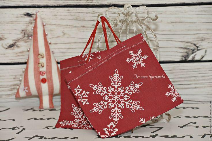 """Купить Новогодняя подарочная текстильная сумочка """"Сказка""""упаковка подарка - Новый Год, новый год 2017"""