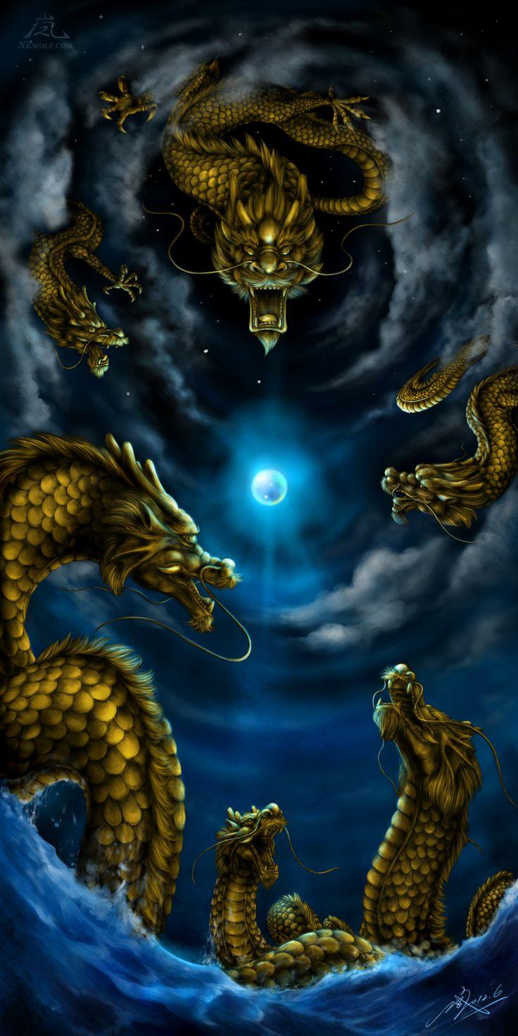The Six Dragons by NZwolf.deviantart.com on @deviantART