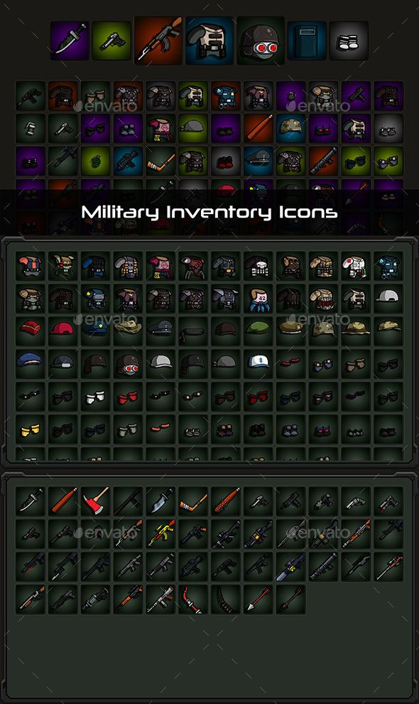 Military Inventory Icons Military Game Assets Icon