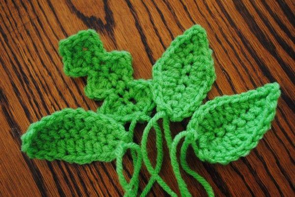 Free Crochet Spring Patterns- Leaves 101