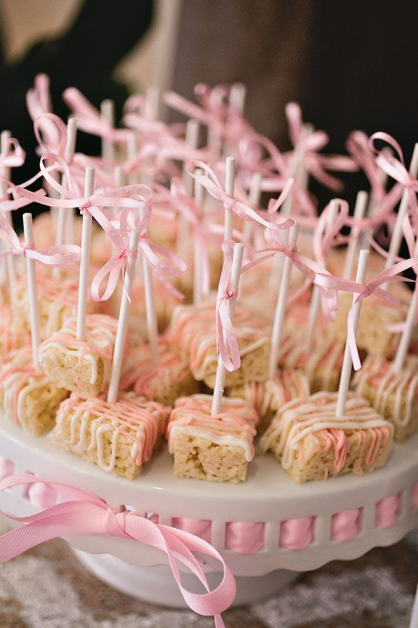 vintage rice crispie treats | Source: http://www.ontobaby.com/gallery/sparkle-and-tutus-baby-shower ...