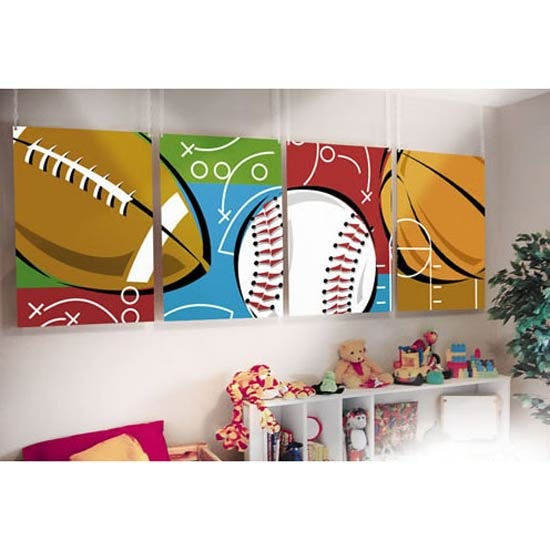 Kids Sports Room Decor, Easy To Paint, Diy Project!