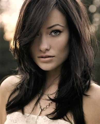 Olivia Wilde. <3 her, maybe I'll do my hair like this next time