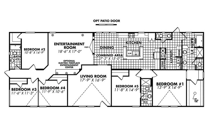 Doublewide Home Floor Plans 5 Bedroom Floor Plans 281 South Homes Manufactured Homes