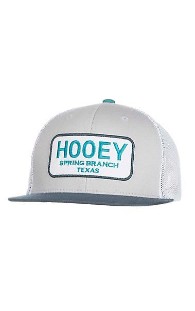 HOOey Grey, Teal, and Navy with Spring Branch Patch Logo Mesh Back Snap Back Cap | Cavender's
