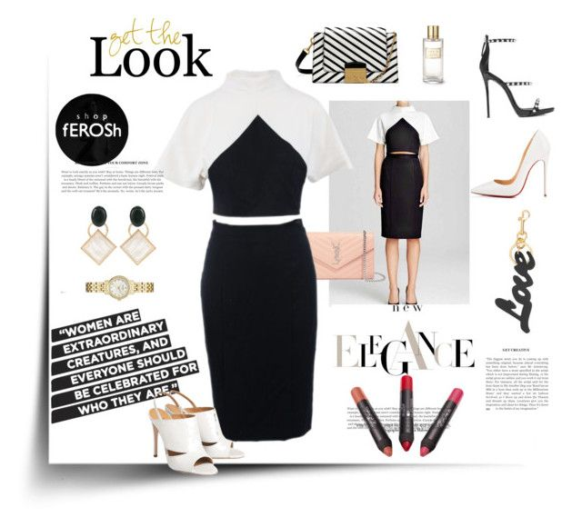Color Block Look by shopferosh on Polyvore featuring polyvore, fashion, style, Gianvito Rossi, Christian Louboutin, Giuseppe Zanotti, Yves Saint Laurent, Mulberry, Marni, Kate Spade, STELLA McCARTNEY, AERIN and clothing
