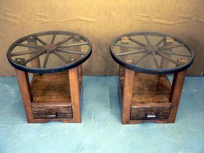 Wagon Wheel End Tables