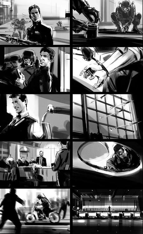 Dan Milligan's storyboard for 'CODnapped' (Call of Duty commercial)  See more at http://blog.jorgenslist.com/post/74300578582/storyboard-to-commercial-dan-milligans-codnapped