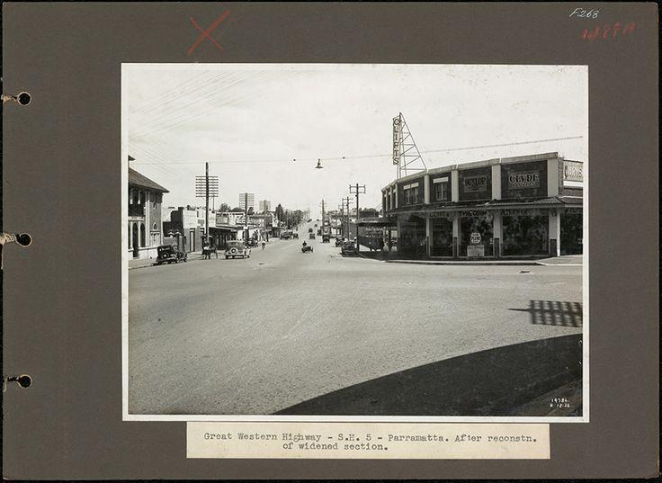 Intersection of Church St & Great Western Highway, Parramatta. 1936