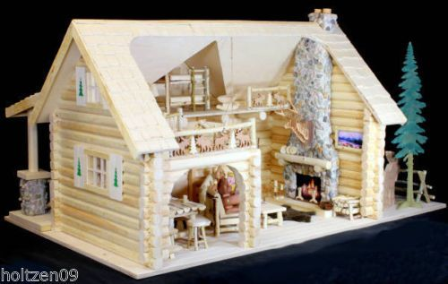 Bear Miniature Log Cabin Woodworking Plans Build Your Own