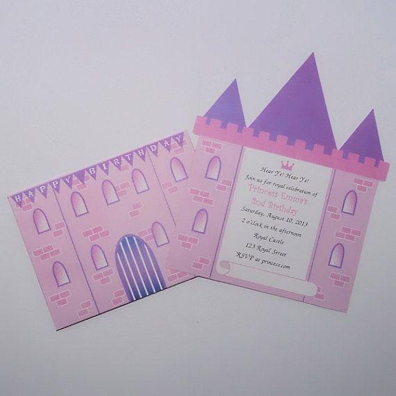 Princess Party Invitation Castle DIY By XARTinosCosmos EUR850