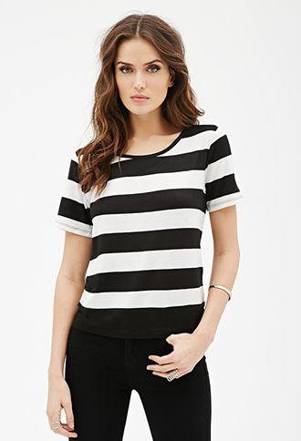 Broad Stripe Knit Tee | LOVE21 - 2000121271