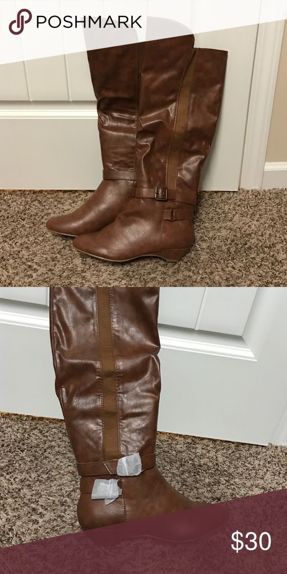 Brand new tan knee high boots sz 6 Brand new without box Madden Girl Shoes Heeled Boots