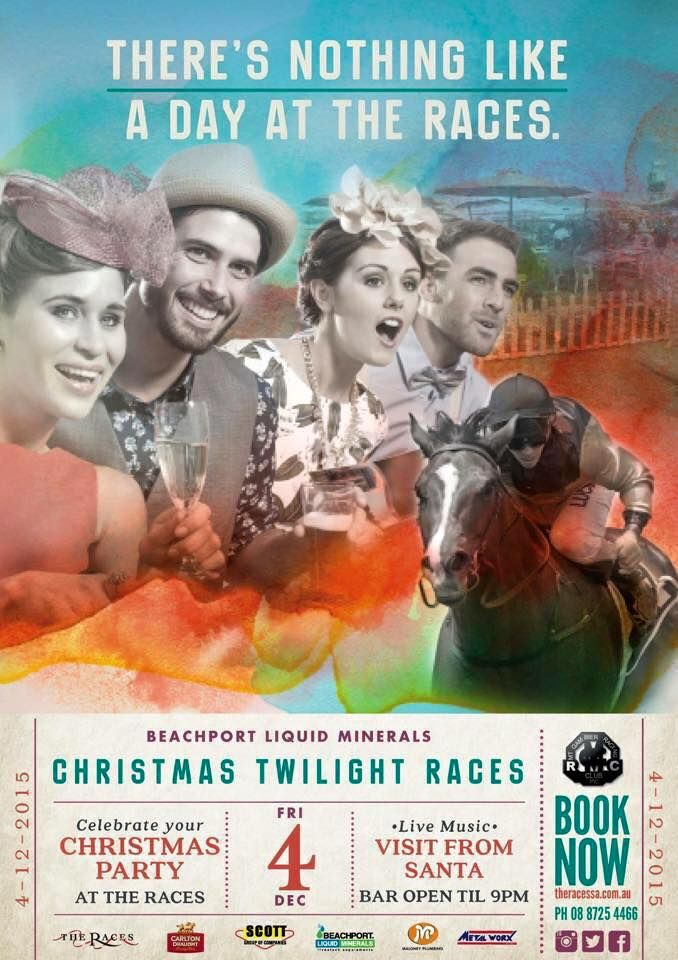 Twilight Christmas Races at the Mount Gambier Racetrack Friday December 4; First race at 3pm -Plenty of activities for big and little kids