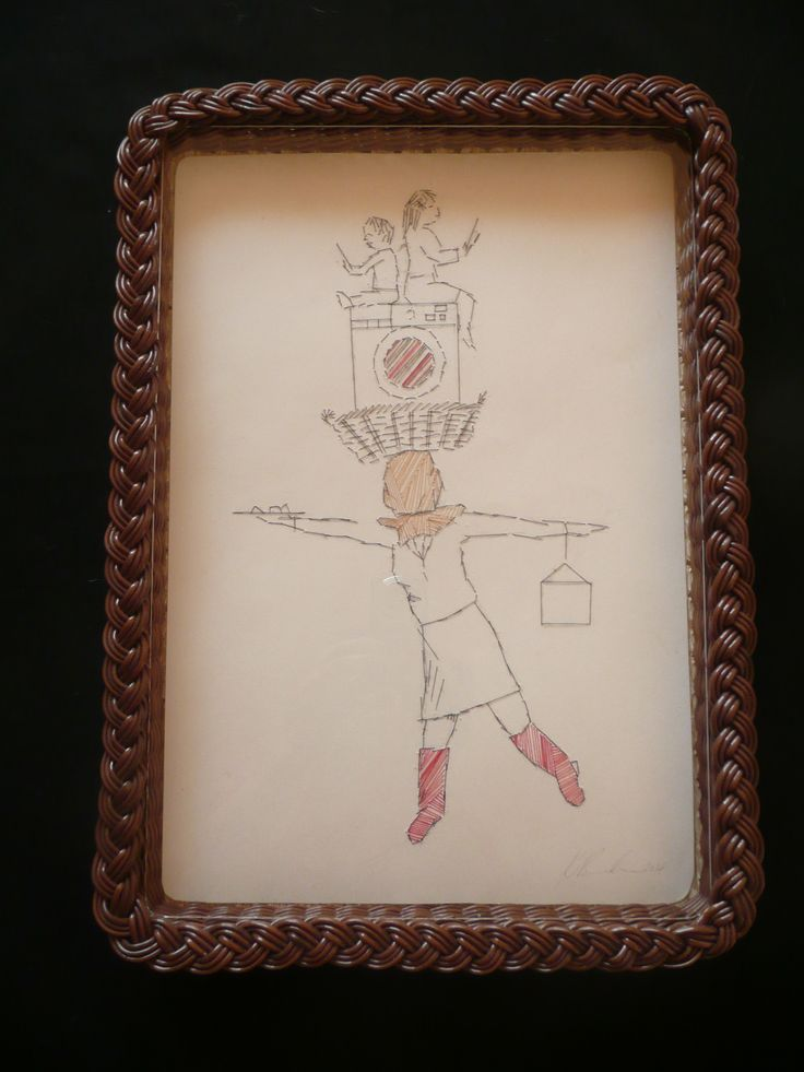 Kym Burke - Sewn on paper, in tray - The Balancing Act
