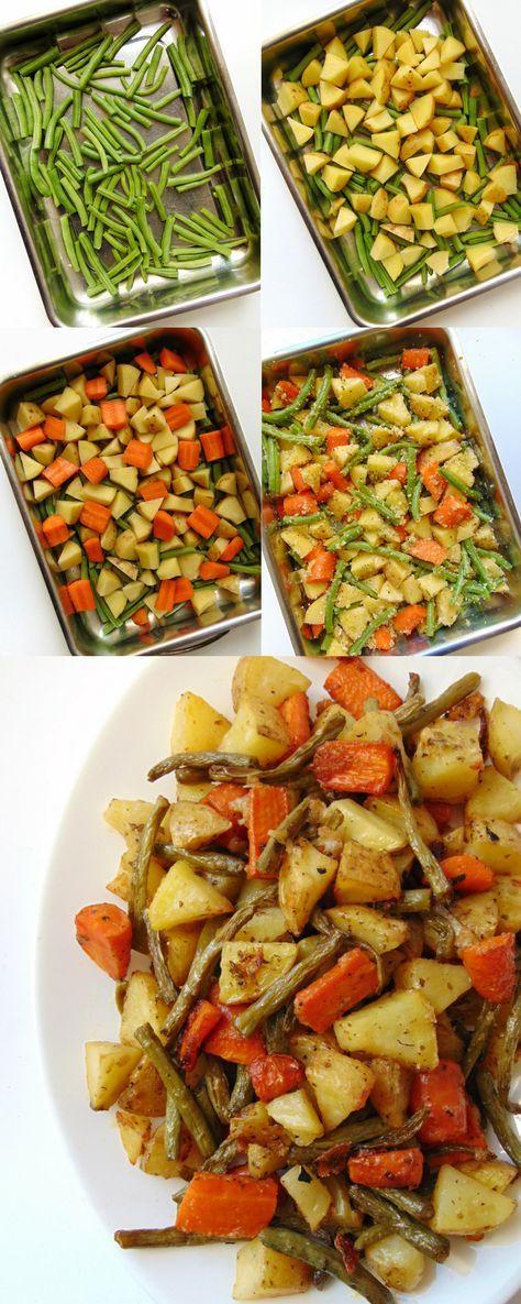 Verduras asadas con parmesano.  #recetas #vegetariano #comida #food